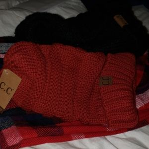 CC EXTRA LONG BEANIE RED